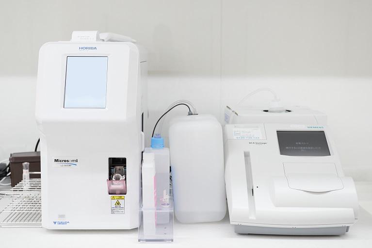 迅速検査機器(自動血球計数CRP測定装置+糖尿病検査装置)
